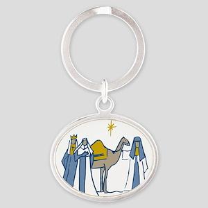 Three Kings Oval Keychain