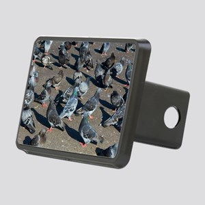 Rock pigeons Rectangular Hitch Cover
