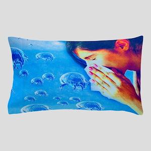 Dust mite allergy, conceptual artwork Pillow Case