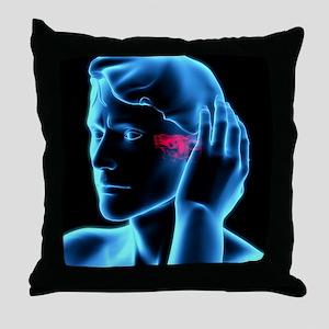 Ear ache Throw Pillow