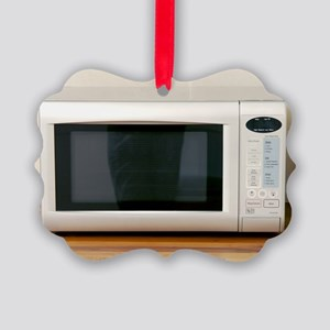 Domestic microwave oven Picture Ornament
