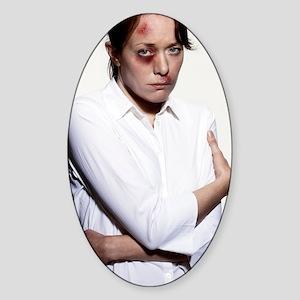 Domestic violence Sticker (Oval)