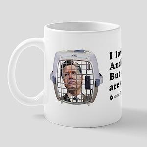 Mitt in a Dog Crate Mug