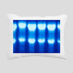 Electrophoresis of RNA Rectangular Canvas Pillow