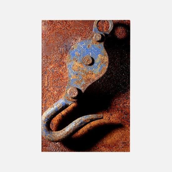 Rusting hook Rectangle Magnet