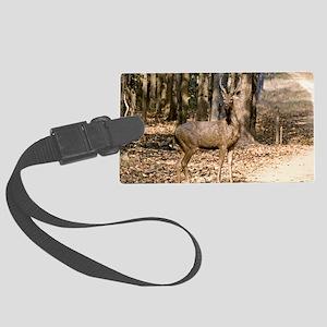 Sambar deer stag Large Luggage Tag