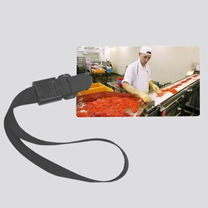 Salmon roe factory Large Luggage Tag