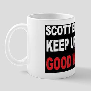 Scott BROWN Good WORKDBUTTON Mug