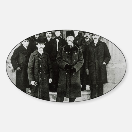 E. Rutherford in a group portrait a Sticker (Oval)