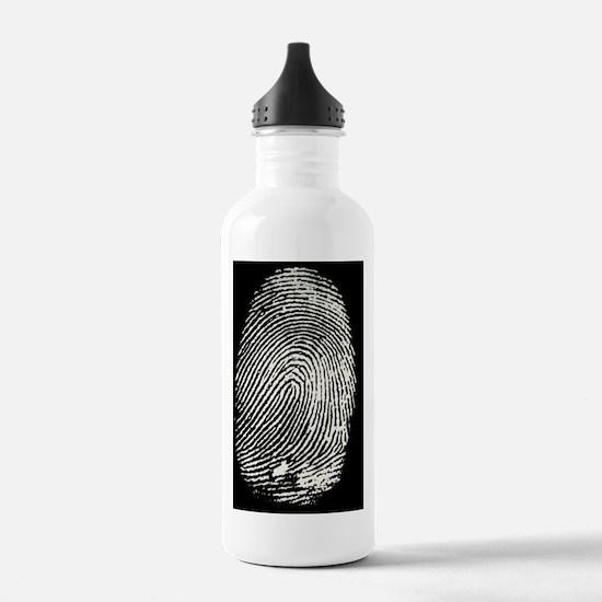 Enlarged fingerprint Water Bottle