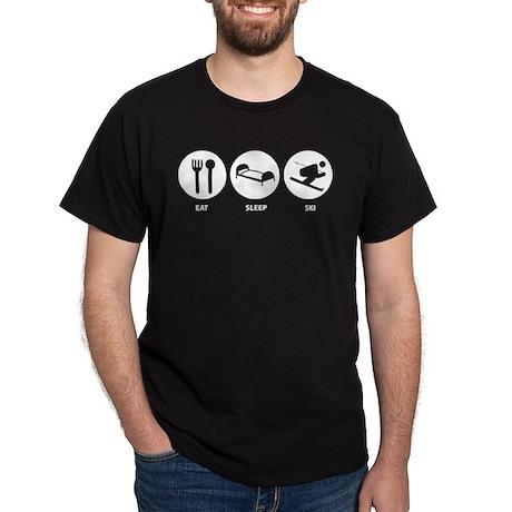 Eat Sleep Ski Dark T-Shirt