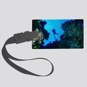 Scuba divers Large Luggage Tag
