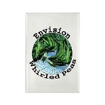 Envision Whirled Peas Rectangle Magnet (100 pack)