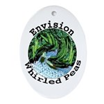 Envision Whirled Peas Ornament (Oval)