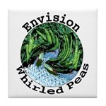 Envision Whirled Peas Tile Coaster