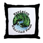 Envision Whirled Peas Throw Pillow