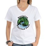 Envision Whirled Peas Women's V-Neck T-Shirt