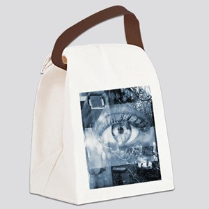 Security surveillance Canvas Lunch Bag