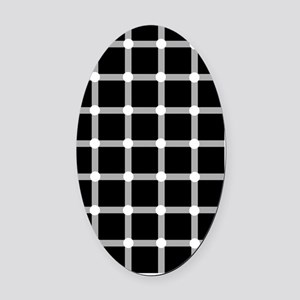 Scintillating grid illusion Oval Car Magnet