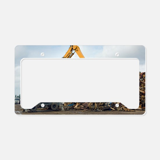 Scrap metal License Plate Holder