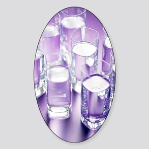Eight glasses of water Sticker (Oval)