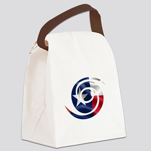 Texas Hurricane Symbol Canvas Lunch Bag