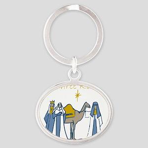 We Three Kings Oval Keychain