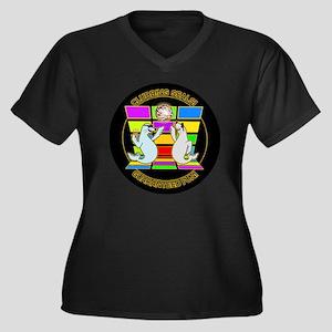 Clubbing Sea Women's Plus Size Dark V-Neck T-Shirt