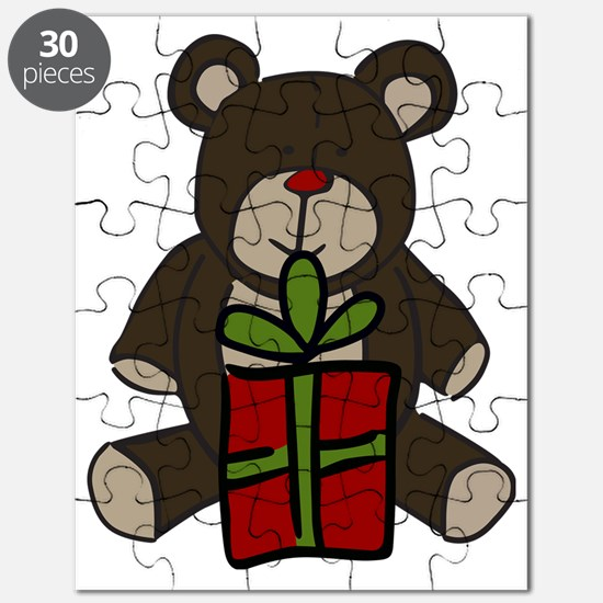 Christmas Teddy Bear Gift Puzzle