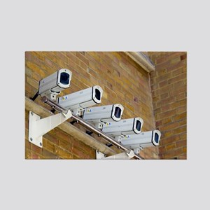 Security cameras Rectangle Magnet