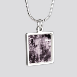 Security surveillance Silver Square Necklace