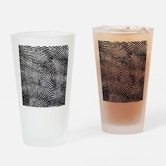 Enlarged fingerprint Drinking Glass