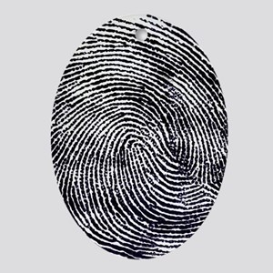 Enlarged fingerprint Oval Ornament