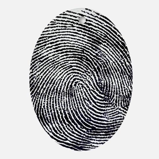 Enlarged fingerprint Oval Ornament