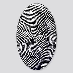 Enlarged fingerprint Sticker (Oval)