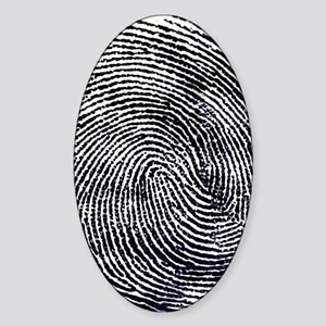 Enlarged fingerprint Sticker (Oval)