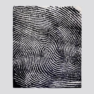 Enlarged fingerprint Throw Blanket