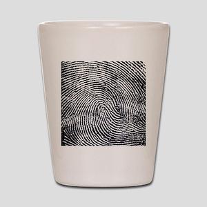 Enlarged fingerprint Shot Glass
