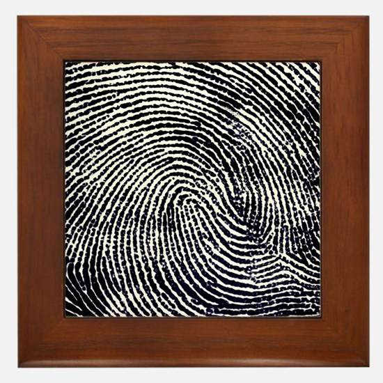 Enlarged fingerprint Framed Tile