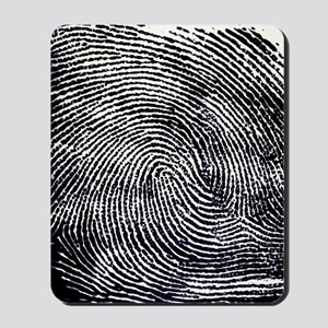 Enlarged fingerprint Mousepad
