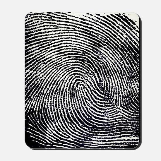 Enlarged fingerprint Mousepad