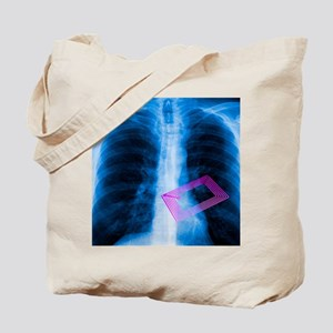Security chip in a human chest Tote Bag