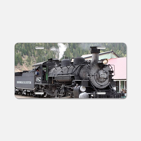 Steam Train: Colorado Aluminum License Plate