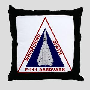 F-111 Aardvark - Whispering Death Throw Pillow