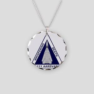 F-111 Aardvark - Whispering  Necklace Circle Charm