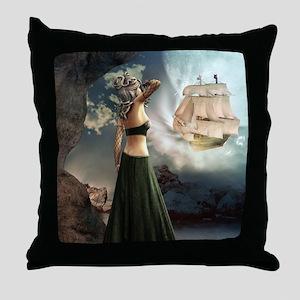 m1_shower_curtain2 Throw Pillow