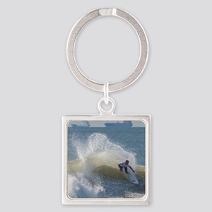 Quicksilver Surfing Square Keychain