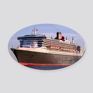 Cruise Ship 2 Oval Car Magnet