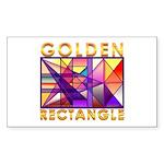 Golden Rectangle Rectangle Sticker