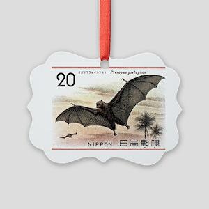 1974 Japan Bat Postage Stamp Picture Ornament